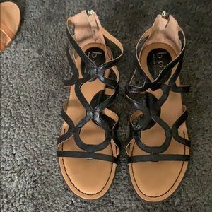 BOC size 7 black sandals